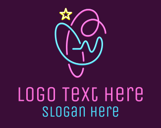 Glow - Abstract Glowing Symbol logo design