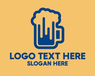 Beer Foam - Modern Beer Pub  logo design