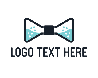 Bow Tie - Chemical Bow Tie logo design