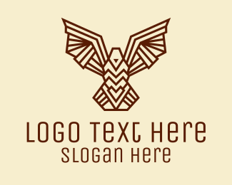 Airline - Tribal Brown Bird  logo design