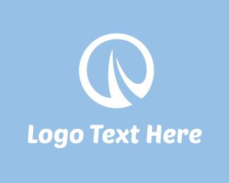 White Circle - O Run logo design