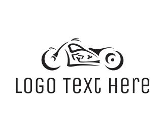 Motorbike - Black Motorcycle logo design