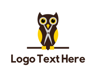 Pet Grooming - Barber Owl logo design