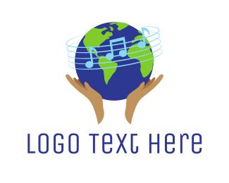 Music School - Global Music School logo design