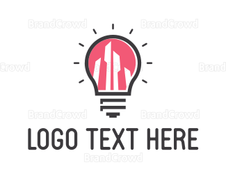 Bulb - Bright City logo design