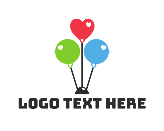 Party Supplies - Balloon Party logo design