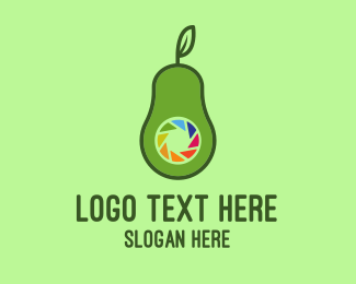 Guacamole - Avocado Camera logo design