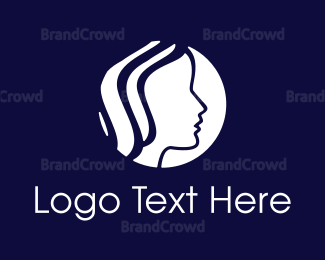Hair And Beauty - Feminine Circle logo design