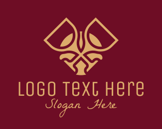 Lounge Bar - Luxury Wine Glass  logo design