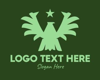 Military - Green Military Eagle logo design