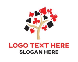 Las Vegas - Poker Tree logo design