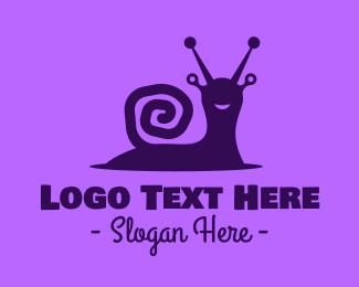 Slow - Happy Wild Snail logo design