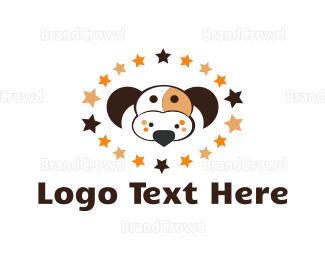 Popular - Dog Constellation logo design