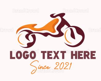 Bike Shop - Abstract Motorbike logo design