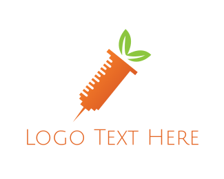 Vitamin - Carrot Shot logo design
