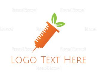 Injection - Carrot Shot logo design