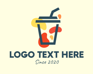 Cold Drink - Modern Reusable Cup logo design