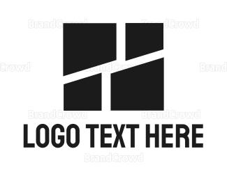Brick - Black Tiles logo design