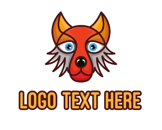 Werewolf - Colorful Fox Hound logo design