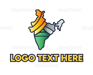 Agency - Colorful Indian Outline logo design