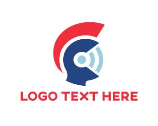 Spartan - Wifi Helmet  logo design