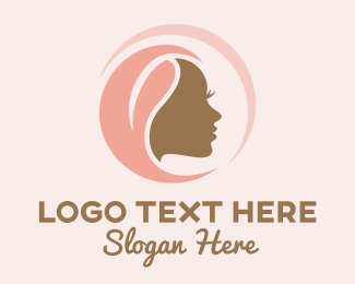 Lacefront - Dark Skin Woman Profile logo design