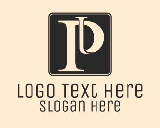 Old - Serif Letter P logo design