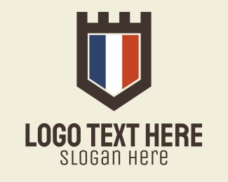 French Flag Crest Logo
