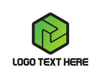 Army - Green Hexagon logo design