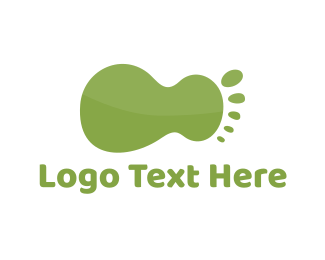 Podiatry - Green Foot logo design