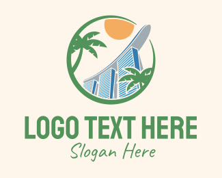 Chinese Temple - Singapore Hotel Landmark logo design