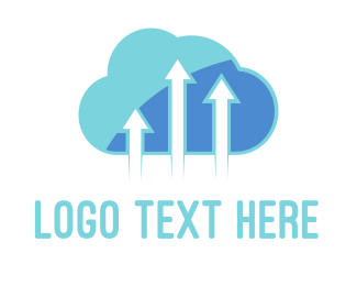 Up - Arrow Cloud logo design