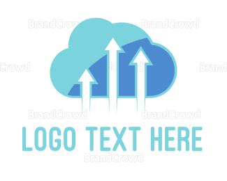 Elevate - Arrow Cloud logo design