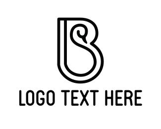 Letter B - Black Swan logo design
