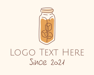 Ice - Iced Tea Coffee logo design