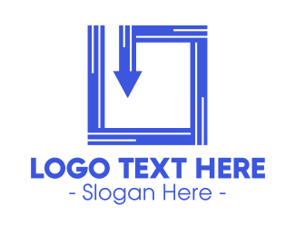 Inside - Blue Tech Box logo design