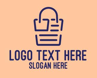Entrepreneur - Online Shopping Receipt  logo design