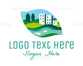 Broker - Riverside Town logo design