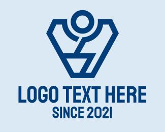 Company - Abstract Manpower Company logo design