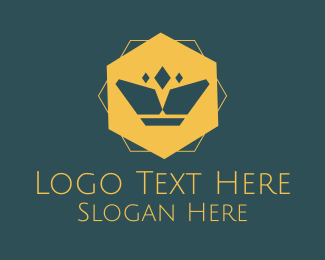Crown - Geometric Modern Crown logo design