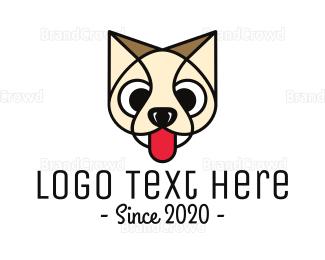 Beige - Beige Kitten Outline logo design