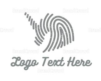 Biometric - Grey Unicorn logo design