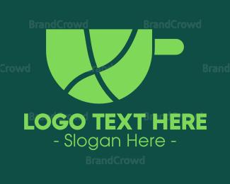 Herbal Tea - Green Tea logo design