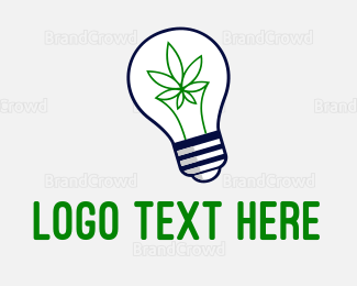 Bulb - Cannabis Idea logo design
