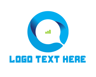 Wireless - Abstract Letter O logo design