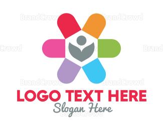 Herbal - Herbal Medicine Flower logo design