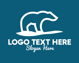Arctic - White Polar Bear  logo design