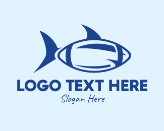 Species - Blue Football Shark logo design