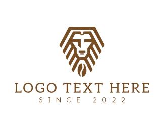 Polygonal - Geometric Lion Cafe logo design