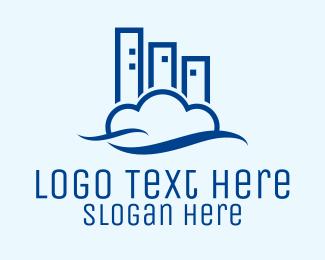 Heaven - Modern Cloud Building logo design